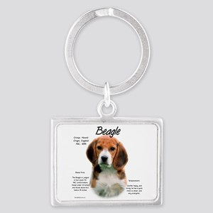 Beagle Landscape Keychain