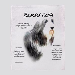 Bearded Collie Throw Blanket