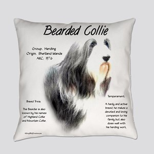 Bearded Collie Everyday Pillow