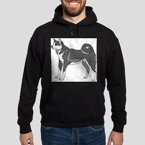 Akita dog Hoodie (dark)
