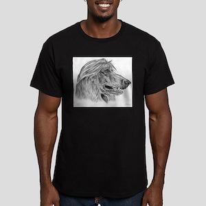afghan hound Men's Fitted T-Shirt (dark)