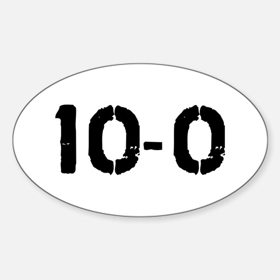 10-0 Oval Decal