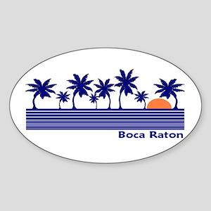 Boca Raton, Florida Oval Sticker