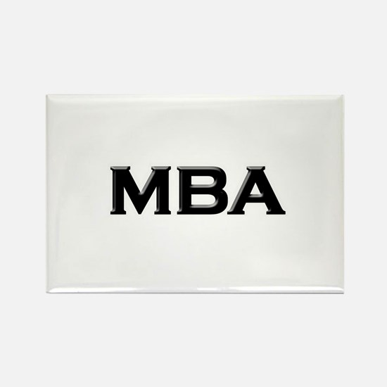 MBA / M.B.A. Rectangle Magnet (100 pack)