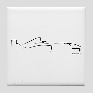 Formula 1 Black Tile Coaster