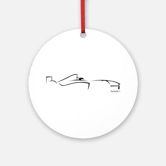 Formula 1 Black Ornament (Round)