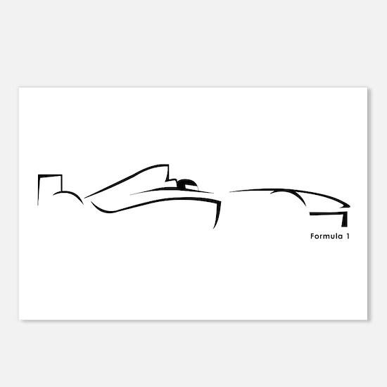 Formula 1 Black Postcards (Package of 8)