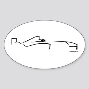Formula 1 Black Oval Sticker