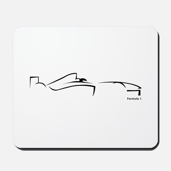 Formula 1 Black Mousepad