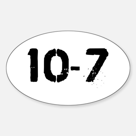10-7 Oval Decal