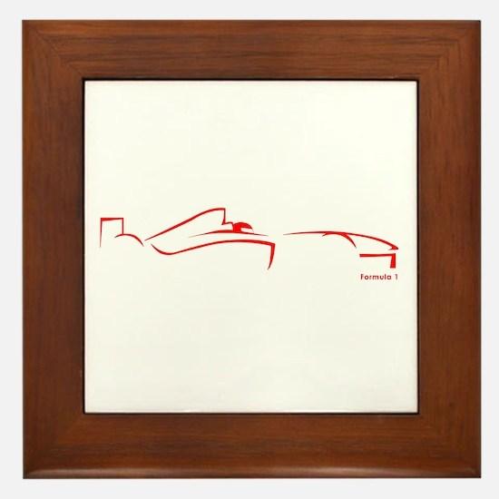 Formula 1 Red Framed Tile