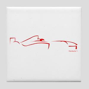 Formula 1 Red Tile Coaster