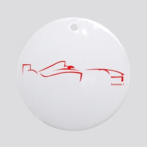 Formula 1 Red Ornament (Round)