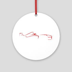 Formula 1 Red Ornament (Round)