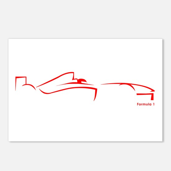 Formula 1 Red Postcards (Package of 8)