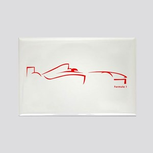 Formula 1 Red Rectangle Magnet