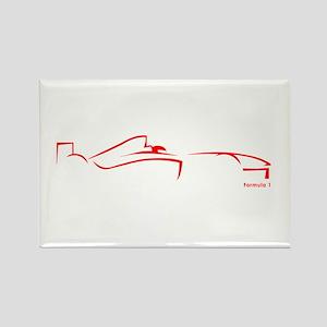 Formula 1 Red Rectangle Magnet