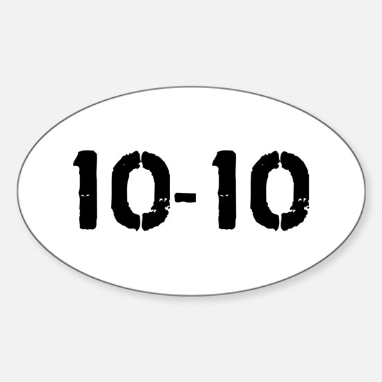 10-10 Oval Decal