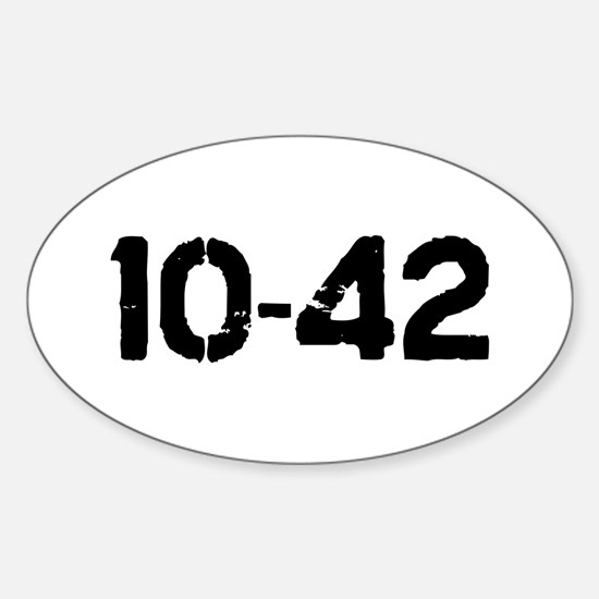 10-42 Oval Decal