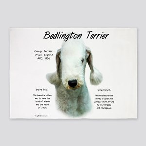 Bedlington Terrier 5'x7'Area Rug