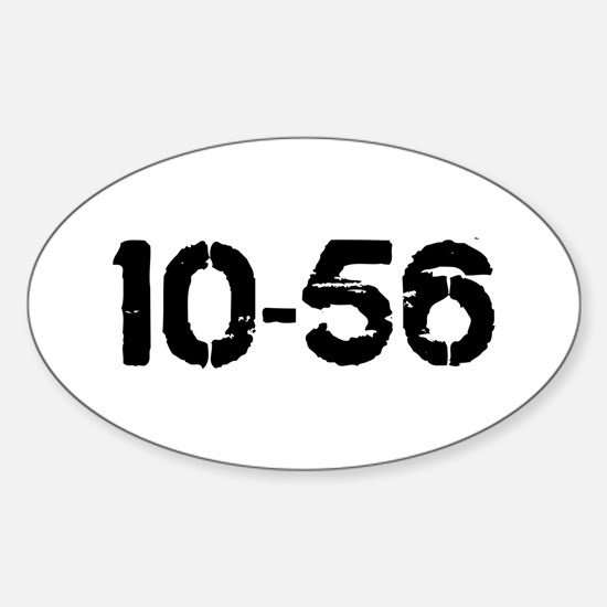 10-56 Oval Decal