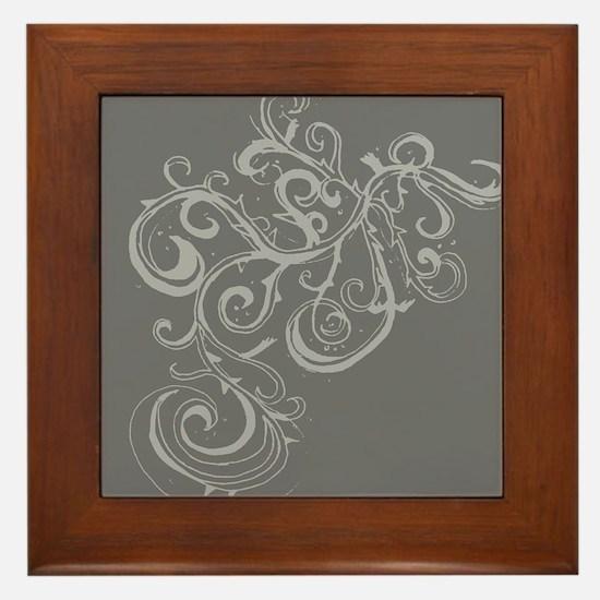 Squiggle Framed Tile