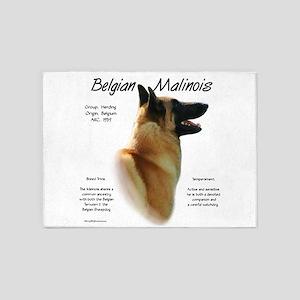 Belgian Malinois 5'x7'Area Rug