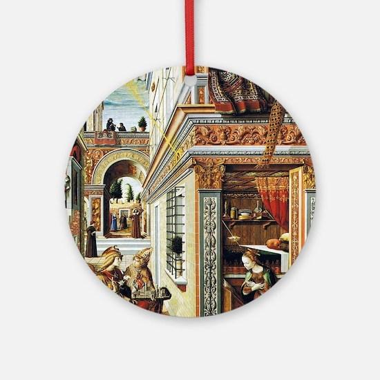 Annunciation - Carlo Crivelli - c1486 Round Orname