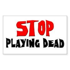 Stop Rectangle Sticker