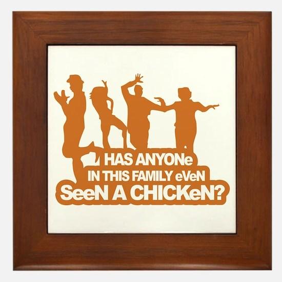 Chicken Dance Framed Tile
