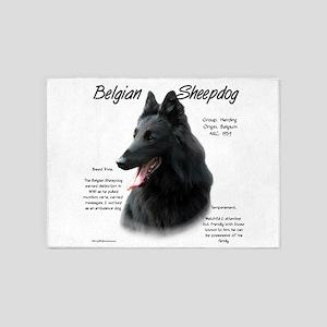 Belgian Sheepdog 5'x7'Area Rug