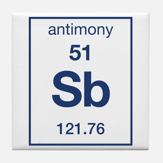 Antimony periodic table nice houzz antimony periodic table jonlou home tile coaster flavorsomefo images abbreviation for urtaz Gallery