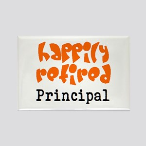 happily retired principal2 Rectangle Magnet
