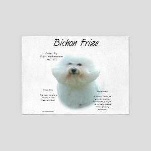 Bichon Frise 5'x7'Area Rug