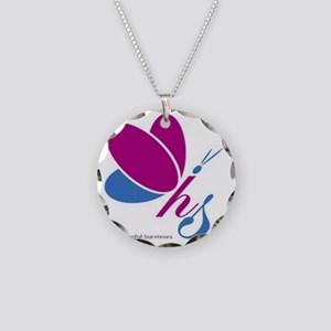 Hopeful Survivors Butterfly Necklace Circle Charm