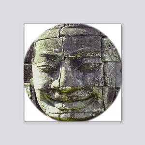 "Bayon Buddha Square Sticker 3"" x 3"""