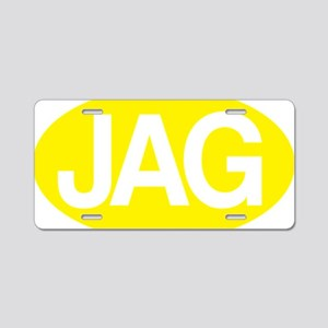 jag1 yllw for rd Aluminum License Plate
