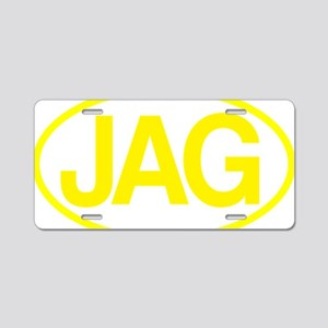 Jag2 yllw for rd Aluminum License Plate