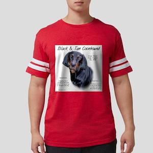 Black and Tan Coonhound Mens Football Shirt