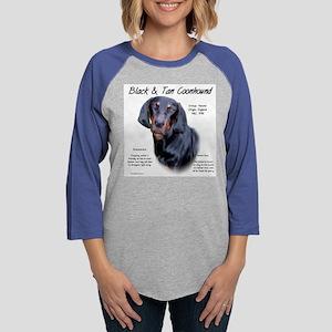 Black and Tan Coonhound Womens Baseball Tee