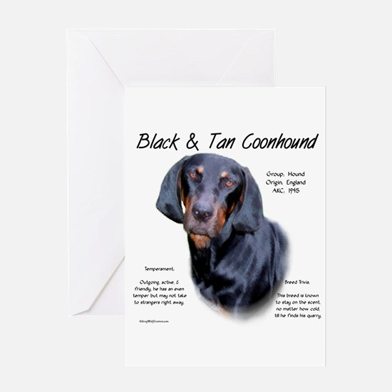 Black and Tan Coonhound Greeting Card
