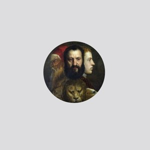 Allegory of Prudence - Titian - c1566 Mini Button