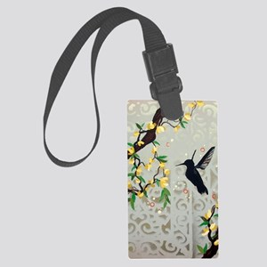 Flitting through the Vines Large Luggage Tag