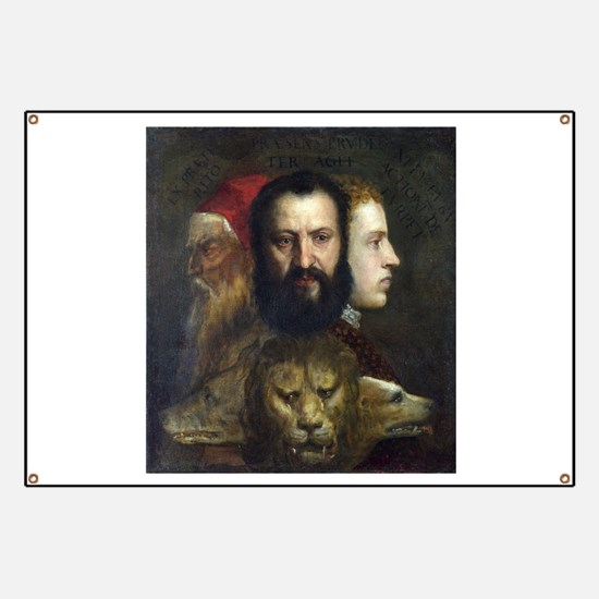 Allegory of Prudence - Titian - c1566 Banner