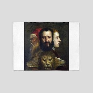 Allegory of Prudence - Titian - c1566 5'x7'Area Ru