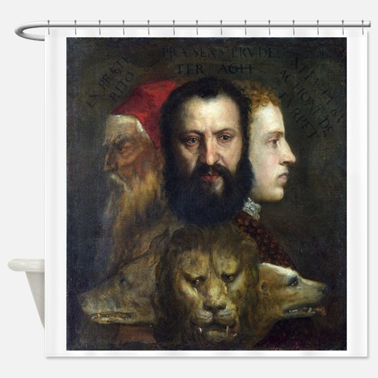 Allegory of Prudence - Titian - c1566 Shower Curta