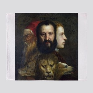 Allegory of Prudence - Titian - c1566 Throw Blanke