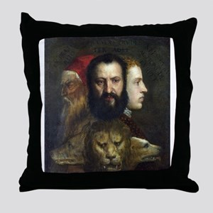 Allegory of Prudence - Titian - c1566 Throw Pillow