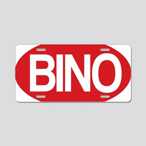 Bino red for wh Aluminum License Plate