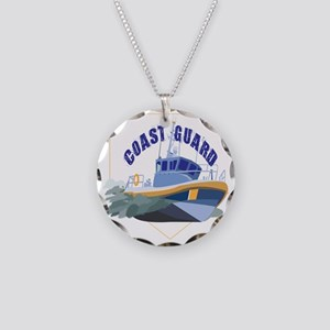 Coastie Wife Cutter Necklace Circle Charm